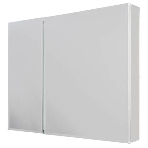frameless mirrored medicine cabinet recessed glacier bay 30 in w x 26 in h frameless recessed or