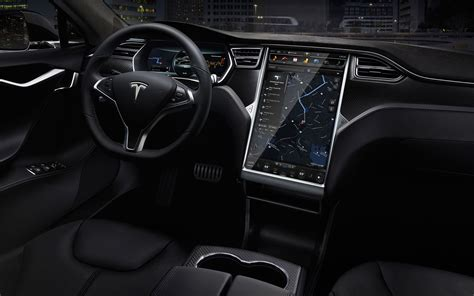tesla inside 2015 tesla model s p85d test drive