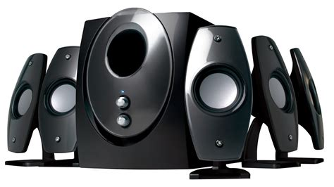 Speaker Komputer sp 5001 black 5 1 multimedia pc speakers