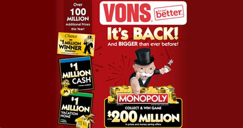 playmonopoly us game at vons 2017 - Monopoly Sweepstakes Vons