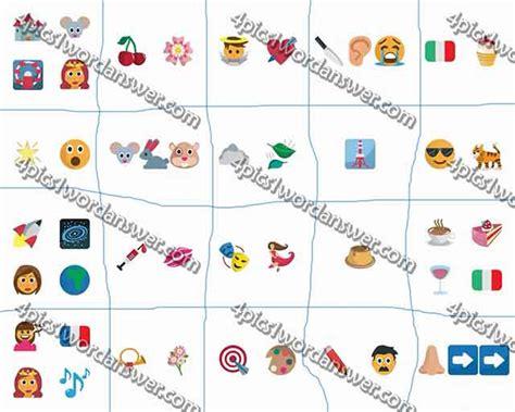 emoji quiz cheats 100 pics emoji quiz 5 level 81 100 answers 4 pics 1