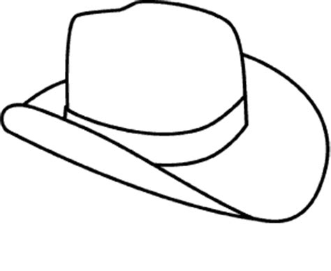 wild west rodeo ten gallon cowboy hat coloring page