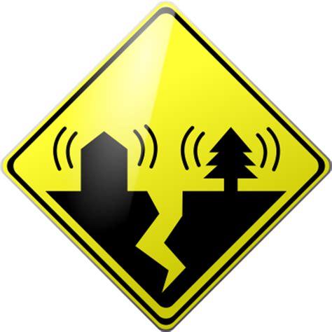 earthquake signs free clip art mikerisner com