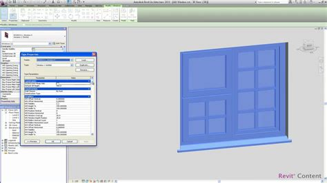 revit tutorial window family revit content all in one revit window family youtube