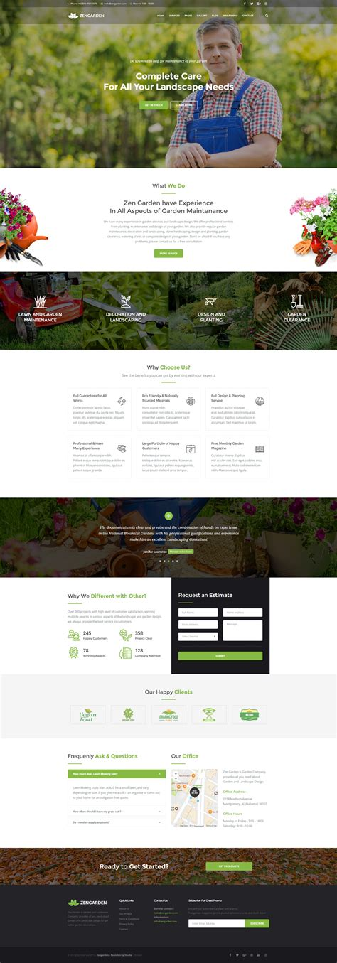 themeforest zen zen garden garden and landscape html template by