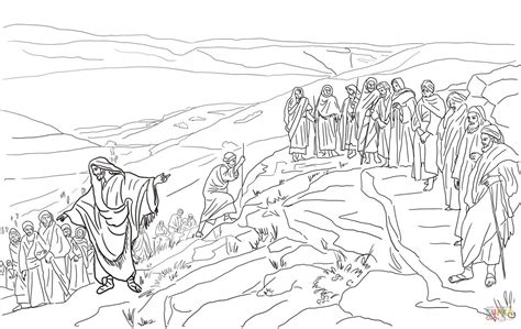 jesus chooses twelve disciples coloring page free