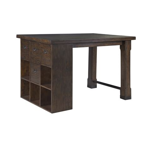 Counter Height Desk With Storage by Magnussen Pine Hill Counter Height Storage Desk In Rustic