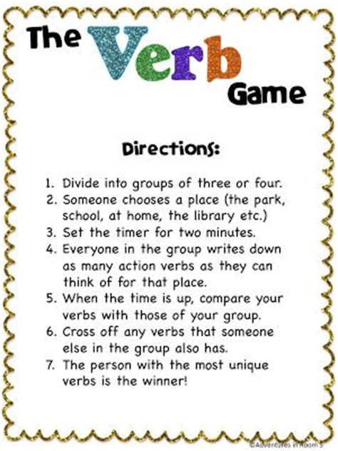 for learning verbs this would be even better if the got to do some of the