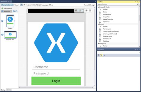layout design in xamarin android developing native ios and android apps in visual studio