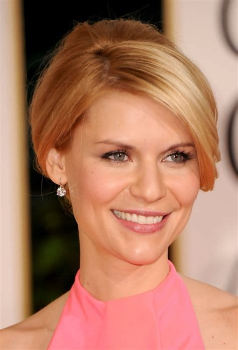 french twisted bangs claire danes elegant casual french twist updo with bangs