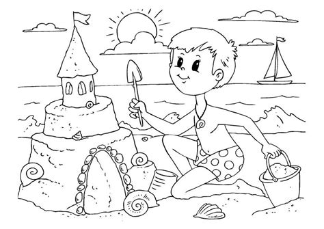free coloring pages of sand
