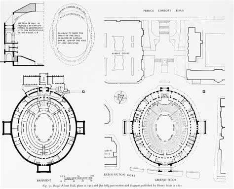 royal albert hall floor plan plans and part section of royal albert hall london