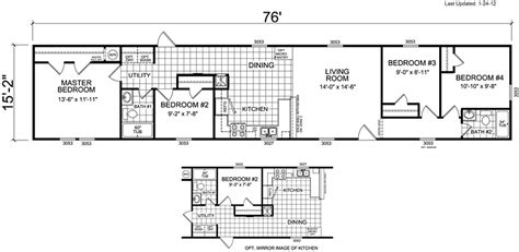 4 Bedroom Mobile Home Floor Plans by Mobile Home Floor Plans 4 Bedroom Search