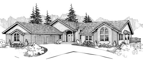 front view house plans rear view and panoramic view house