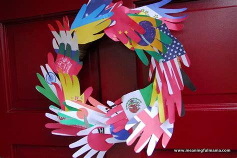 peace crafts for world peace diy wreath allfreekidscrafts