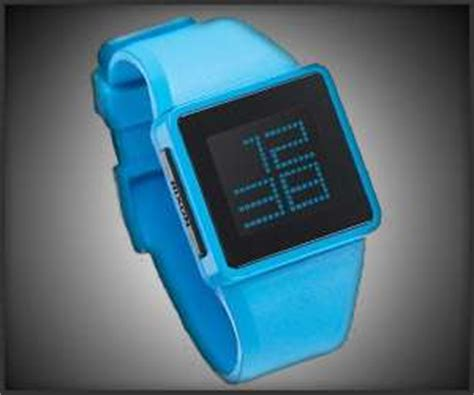 Nixon Digital Chain minimalist neon timepieces newton digital
