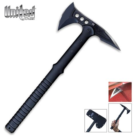 m48 tomahawk united cutlery m48 tactical tomahawk black barricade defense technologies