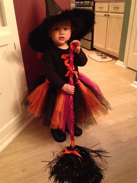 toddler witch halloween costume    niece diy