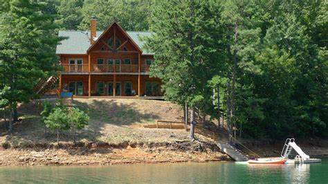 Fontana Lake Cabin Rentals by Lakefront Luxury Log Home On Scenic Fontana Vrbo