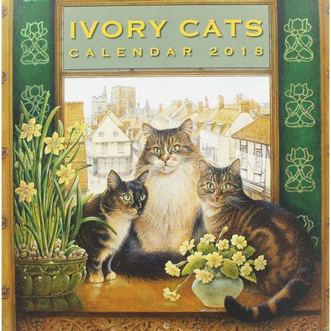 wall calendar 2018 cats of greece books ivory cats 2018 wall calendar 9781786645739 buy book