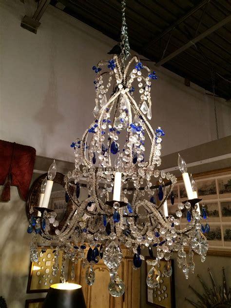 Cobalt Blue Chandelier Venetian Murano And Cobalt Blue Chandelier For Sale At 1stdibs