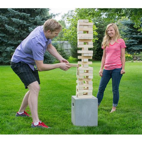 new backyard games yard games giant tumbling timbers outdoor lawn activity