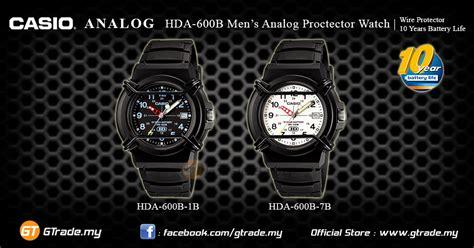 Jam Casio Original Hda 600 7b casio wire protector hda 600b 7b analog mens date