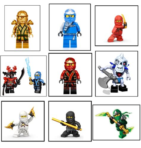 9 Ninjago Stickers Party Supplies Labels Favors