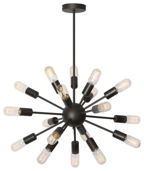 Satellite Chandelier Dainolite Ltd Dainolite Bristol 18 Light T14 Bulb Satellite Chandelier Black Chandeliers Houzz