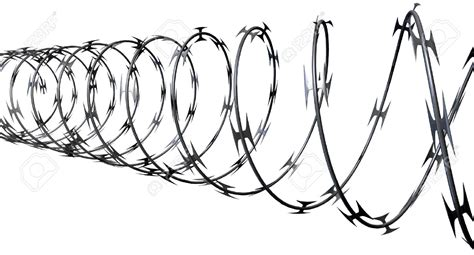 barbed wire clipart coiled