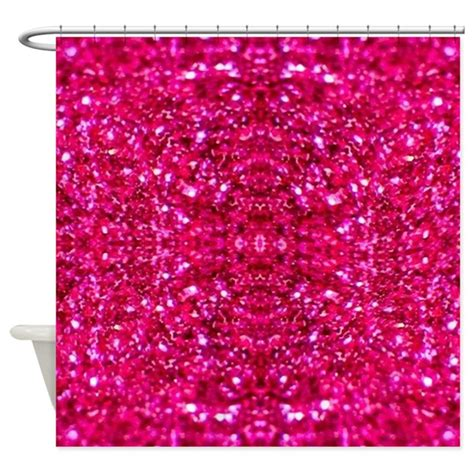 pink sparkle curtains hot pink glitter shower curtain by admin cp13506533