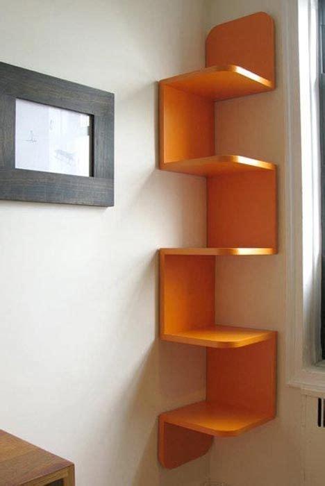 Corner Wall Bookcase Corner Zig Zag Wall Shelf Kickstartsaving Cool Products