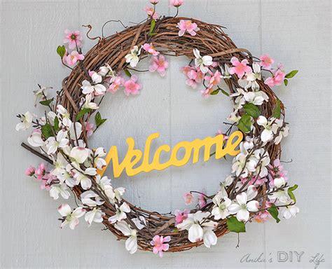 diy spring wreath 25 beautiful diy spring wreaths our crafty mom