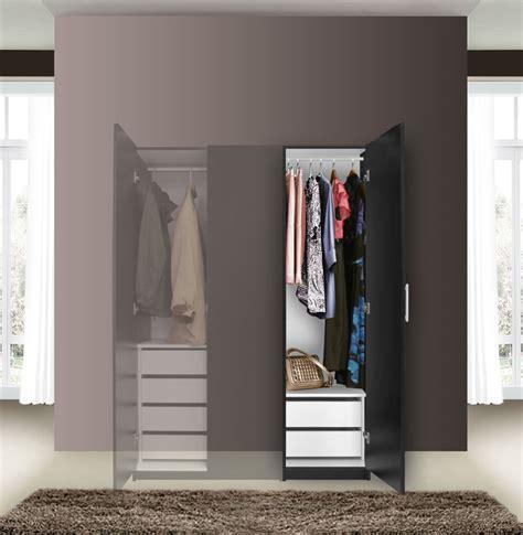 Narrow Wardrobe Closet Alta Narrow Wardrobe Closet Right Door 2 Interior