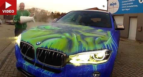 car that changes color throws water on his bmw what happens next to the