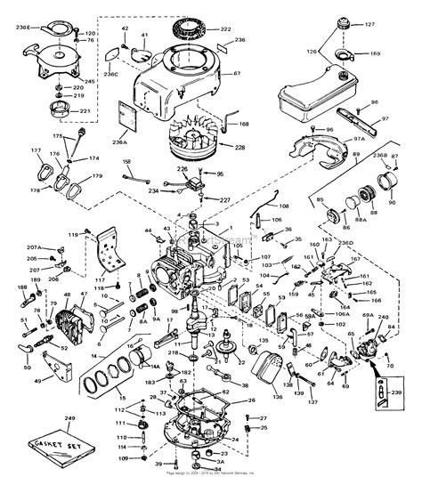 az motor parts tecumseh v70 125117 parts diagram for engine parts list 1