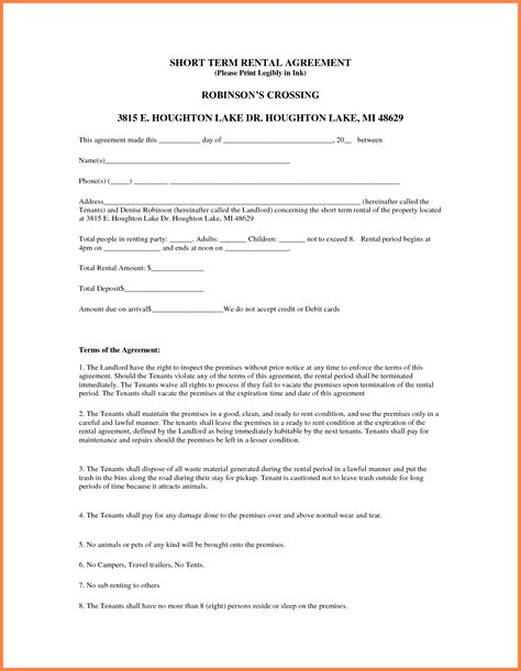 term lease agreement template 5 sle lease agreement for renting a house purchase