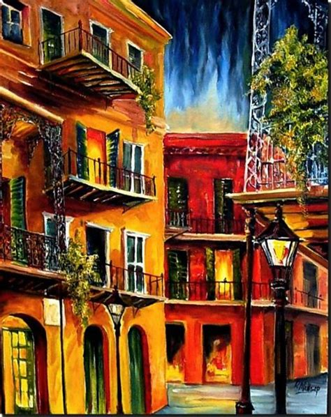 paint nite orleans quarter balconies sold by diane millsap from