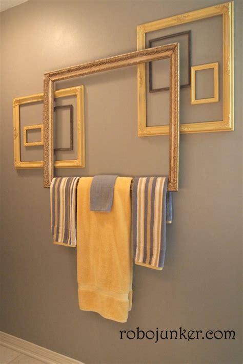 Creative Bathroom Towel Racks Diy Craft Projects Using Vintage Windows Trash To