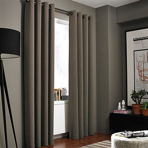 kenneth cole reaction home gotham texture lined grommet - Home Window Curtains