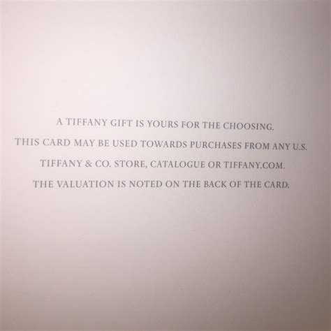 Tiffany Gift Card Discount - 33 off tiffany co other tiffany co gift card from ashley s closet on poshmark