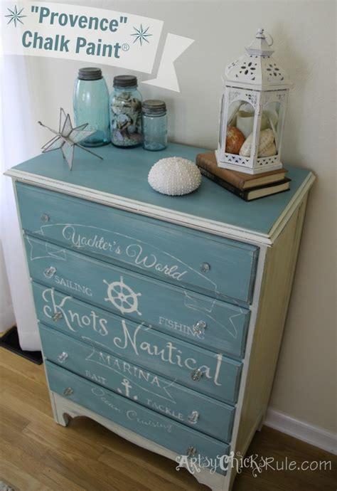 coastal themed chest w custom graphics sloan chalk paint artsy rule 174