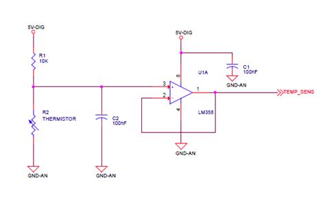 ntc thermistor circuit design avr ntc thermistor circuit adc conversion compute temperature electrical engineering stack