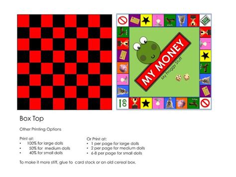 printable board game my froggy stuff 7 best images of my froggy stuff printables money my