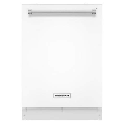 Kitchenaid Dishwasher Opens During Cycle Kitchenaid Top Dishwasher In White With Stainless