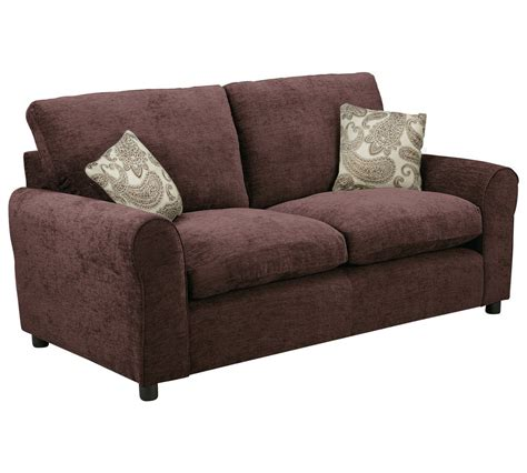 Sofa Bed Fabric Home 2 Seater Fabric Sofa Bed Chocolate Goodglance