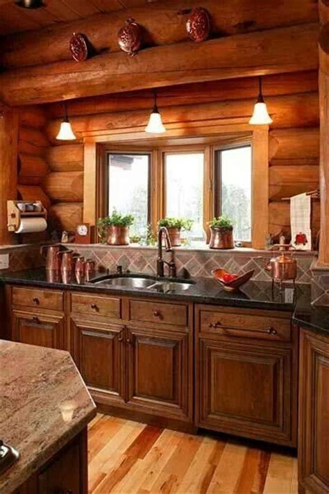 kitchen cabin log cabin kitchen cabin decor pinterest