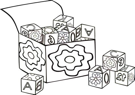 Block O Coloring Page by Block Coloring Page 1975539