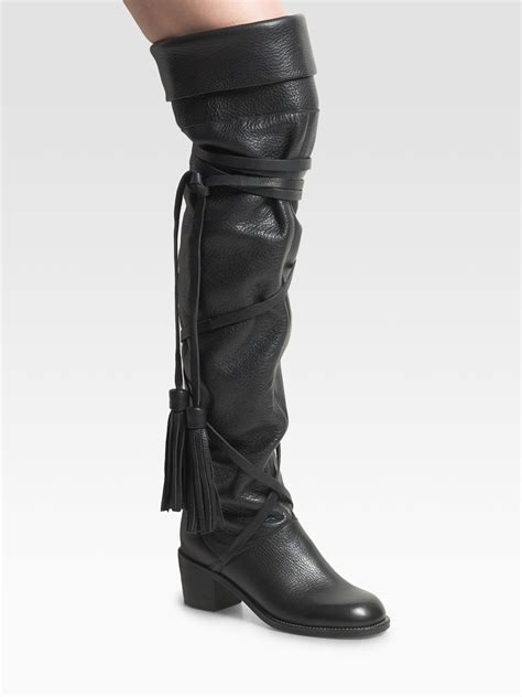 the knee black boots see by chlo 233 the knee boots in black lyst