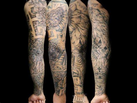 1 2 sleeve tattoo 1 2 sleeve quetzalcoatl pyramide images for tatouage
